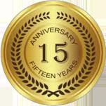 15 Years Seal